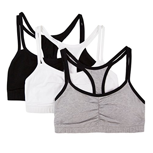 Fruit-of-the-Loom-Womens-Cotton-Pullover-Sport-Bra-Pack-of-3
