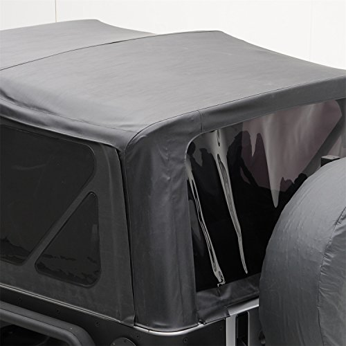 Smittybilt 9075235 Black Diamond Replacement Top with Tinted Side Windows for Jeep JK (Soft Top Door Seal)