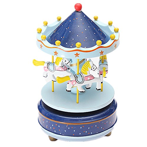 new-dark-blue-1pc-wooden-plastic-merry-go-round-carousel-music-box-christmas-birthday-gift-toy-set43