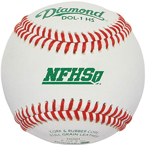 Diamond Dol-1 Nfhs Official League Leather Baseballs 12 Ball Pack