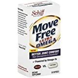 Move Free Ultra Omega Joint Supplement with Omega 3 Krill Oil, Hyaluronic Acid and Astaxanthin (Pack of 3)