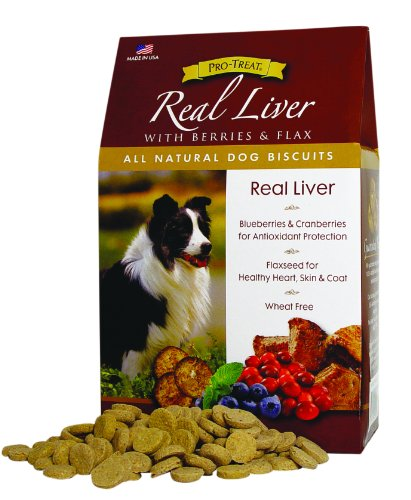 Stewart's Pro-Treat Specialty Treats 16-Ounce Box Real Liver with Berries and Flaxseed Natural Dog Biscuits by MiracleCorp/Gimborn, My Pet Supplies