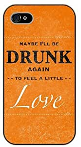 For SamSung Note 2 Case Cover Maybe I'll be drunk again to feel a little love, black plastic case / Ed Sheeran Inspirational and motivational life quotes / AUTHENTIC