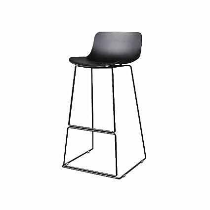 Merveilleux Bar Stool Kitchen Breakfast Tall Chairs Metal Simple Backrest Footrest  Front Desk Stools Front Desk Stools