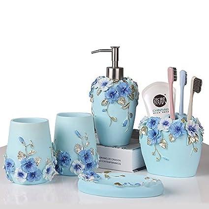 Amazon Com Bathroom Accessories Set 5 Piece Bathroom Gift Set