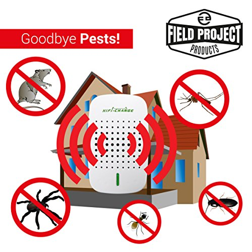 PestByGoneUltrasonic Pest Repellent Repels Rodents, Mice, Rats, Cockroaches, Mosquitoes and Spiders 100% Safe Home Pest Control