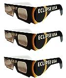 The Eclipser Safe Solar Eclipse Glasses CE Certified, 'Get Mooned' Frame - Pack of 3