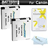 2 Pack Replacement NB-11L Battery Kit For Canon Powershot ELPH 180, ELPH 190 IS, ELPH 150 IS, ELPH 170 IS, ELPH 160, SX410 IS, SX400 IS, SX420 IS, ELPH 340 HS, ELPH 350 HS, ELPH 360 HS Digital Camera