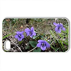 Woodland glory - Case Cover for iPhone 4 and 4s (Flowers Series, Watercolor style, White)