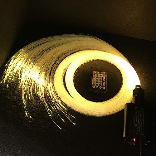 Car use 16W LED Fiber Optic Light Star Ceiling Kit Lights - 220 PCS 0.03in 9.8ft Long (220 PCS0.03in6.5ft Long)