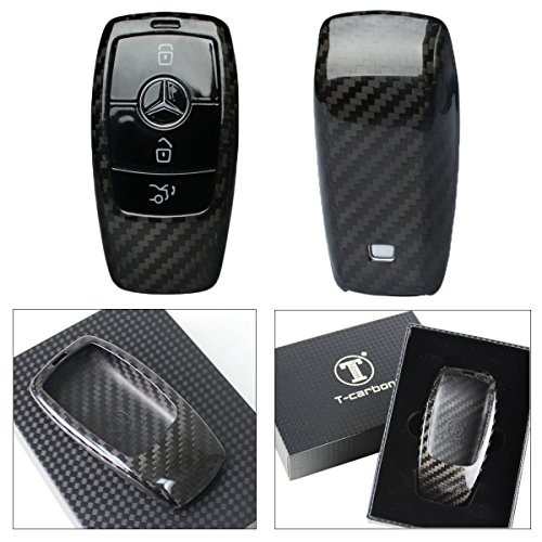 LUXURY CARBON FIBER PROTECTIVE HARD KEY CASE COVER FOR 2017 2018 MERCEDES-BENZ W213 E-CLASS E300 E43 SMART KEY FOB
