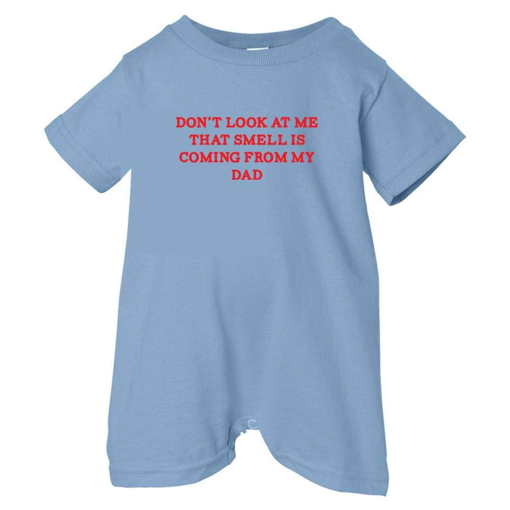 So Relative Unisex Baby Dont Look At Me Smell Coming From Dad T-Shirt Romper