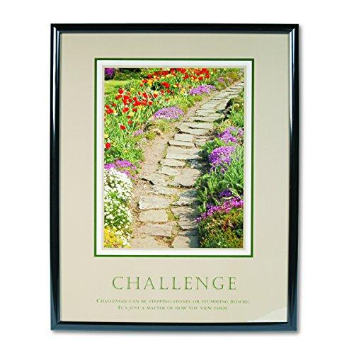 Challenge Framed Motivational Print (ADVANTUS Framed Motivational Print, Challenge (Path), 24 x 30 Inches, Black Frame (78032))