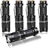 Hausbell Flashlights, 7W Mini LED Flashlight, 3 Light Modes (5Pack)