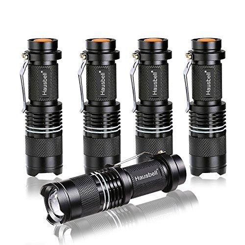 Hausbell 7W Ultra Bright Mini LED Flashlight (5Pack) by