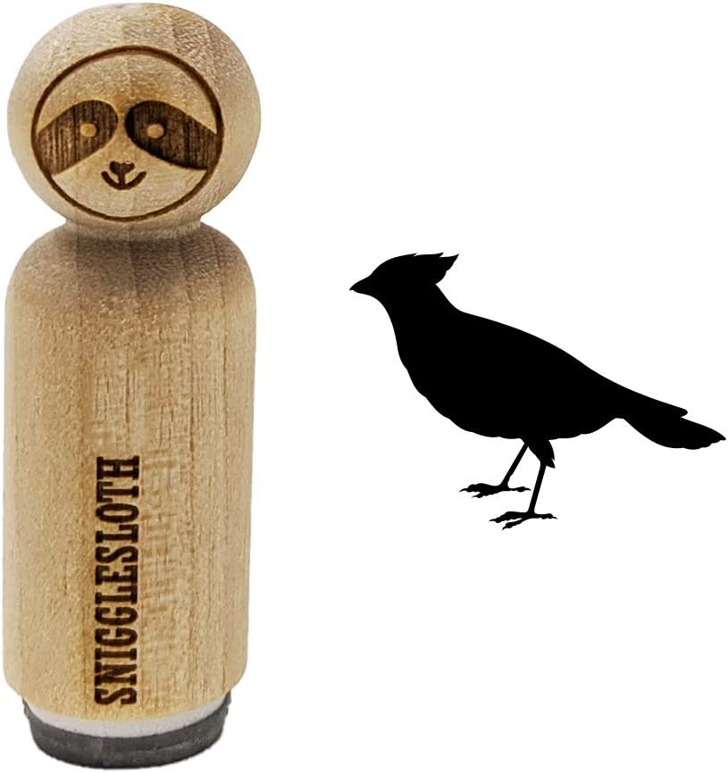 Cardinal Bird Standing Solid Rubber Stamp for Stamping Crafting Planners 3//4 Inch Small