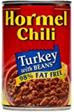 Hormel Turkey Chili with Beans, 98% Fat Free, 15-Ounce (Pack of 6)