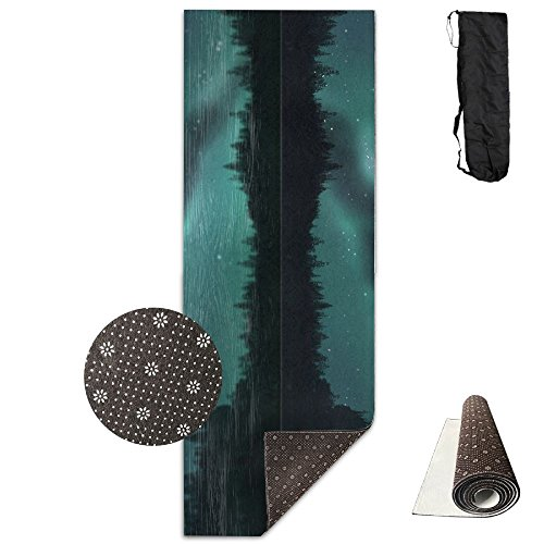 Chimneys Behind Lakeside Trees Printing Yoga Mat Towel Fashion Non-Slip For Hot Yoga,Yoga And Pilates Sports Exercise 24 X 71 Inches Great Durable (Fashion Chimney)