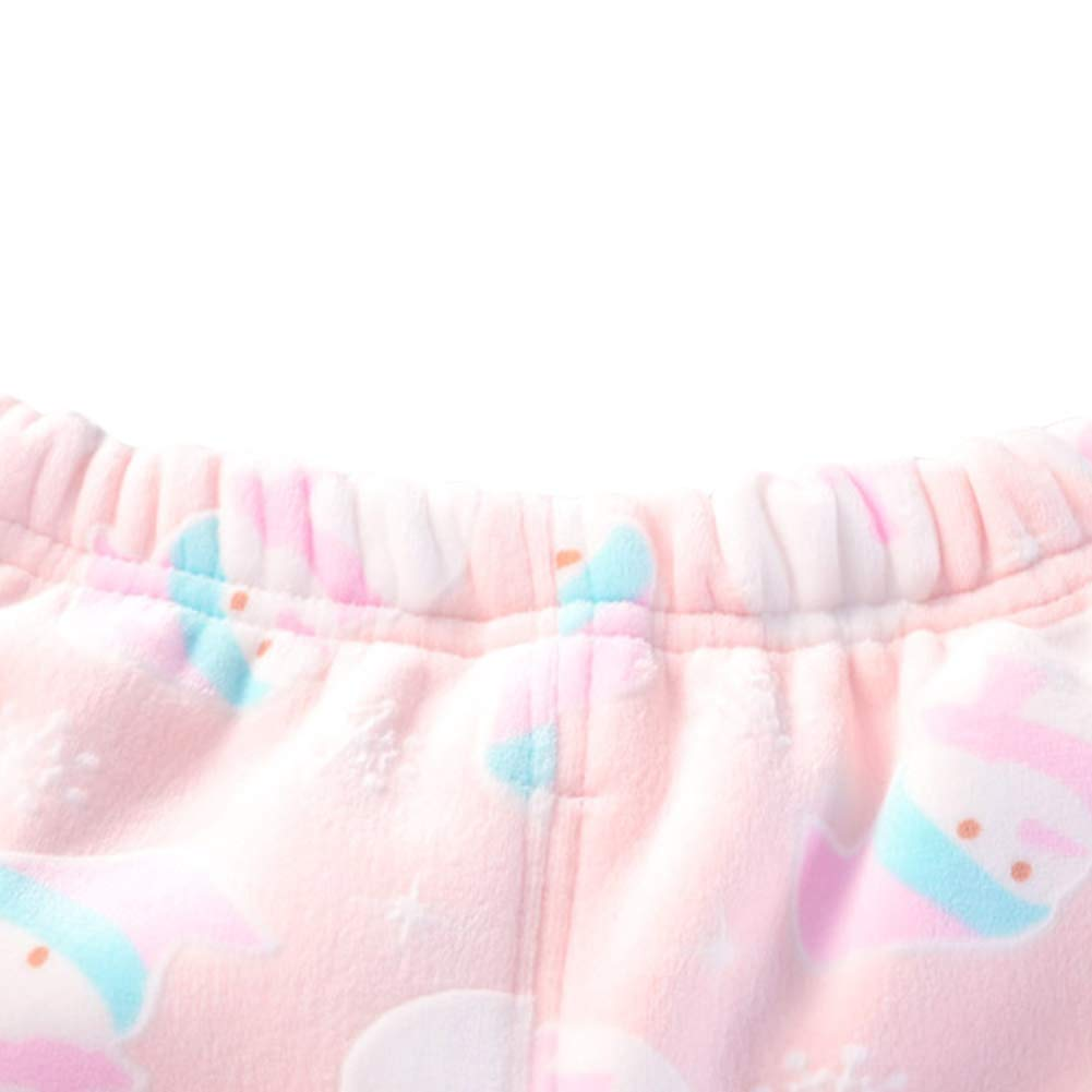Girls Boys Pajamas Set Winter Fleece Lined Thermal Underwear Casual Tracksuit