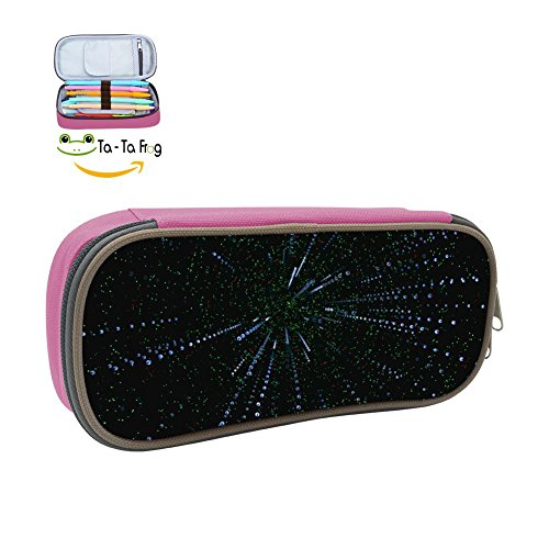 Light Radiance Pencil Case Pen Bag Makeup Pouch Durable Students Cool Boys Stationery With Double Zipper