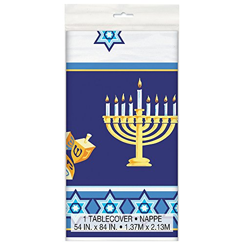 Happy Hanukkah Plastic Tablecloth, 84