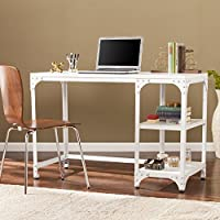 Holston Industrial Writing Desk - Distressed White - 46.25 W x 20.25 D x 30.5 H