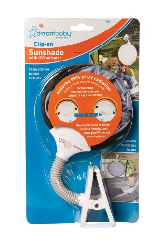 (Dreambaby Clip On Sun Shade with UV Indicator)