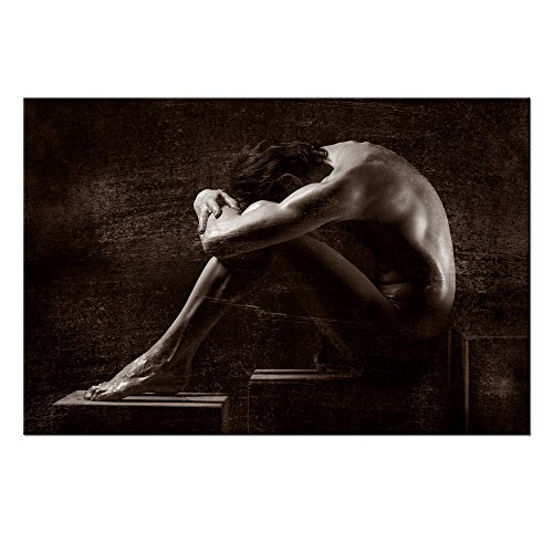 "VVOVV Wall Decor - Wall Art For Home Decoration Painting Male Sexy Nude Canvas Prints HD Picture Poster Wall Mural Contemporary Home Decor Artwork 24x36"",unframed"