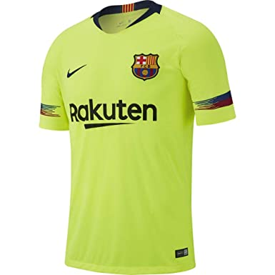 4ab26207c Nike 2018-2019 Youth FC Barcelona Away Stadium Jersey (Volt) (YL)