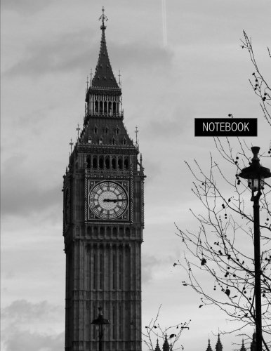 Notebook: Unruled (Blank) Notebook - 100 Pages - Large (8.5 x 11 inches) - London