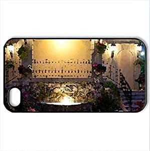 Beautiful fountain - Case Cover for iPhone 4 and 4s (Modern Series, Watercolor style, Black)