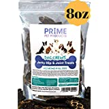 Healthy Jerky Dog Treats Made in USA (8oz Bag) - Source of Glucosamine Hip & Joint Supplement for Dogs - Best Grain Free Treat for Pain Relief - Beef Liver Formula All Breeds - No Corn, Soy or Wheat