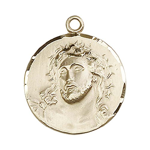 14kt Gold Ecce Homo Medal. Includes deluxe flip-top gift box. Medal/Pendant measures 3/4