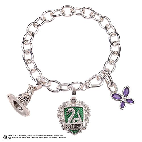 The Noble Collection Lumos Harry Potter Slytherin Charm Bracelet
