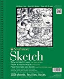 """Strathmore 400 Series Recycled Sketch Pad, 14""""x17"""" Wire Bound, 100 Sheets"""