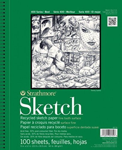 Strathmore STR-457-11 100 Sheet Recycled Sketch Pad, 11 by (400 Series Recycled Sketch Pad)