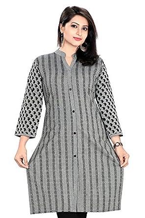 05a23181519 Plus Size Kurtis Women's Cotton Front Line Kurti