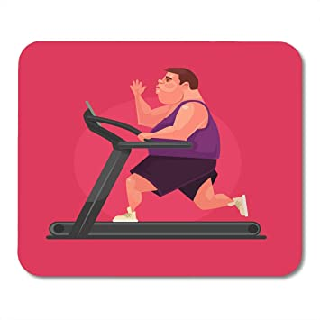 Almohadillas para mouse Runner Sport Fat Man Personaje Correr ...