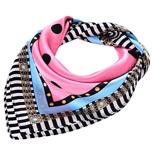 Salutto Women Silk Fashion Square Scarf Kerchief Neck Scarf Neckerchief Dot (Paisley Square Scarf)