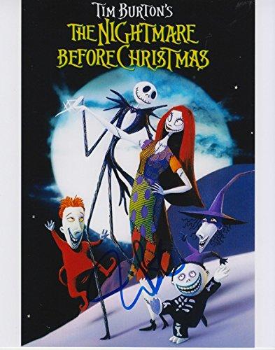Tim Burton (A Nightmare Before Christmas) signed 8x10 photo
