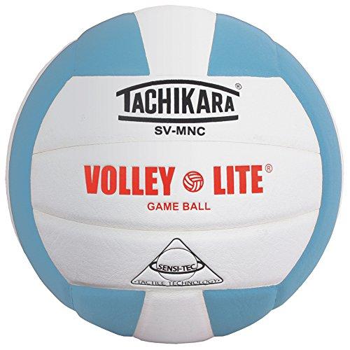 Tachikara Volley-Lite Training Volleyball, Powder Blue/White