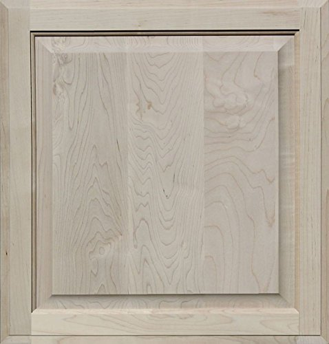 - Unfinished Maple Cabinet Door, Square with Raised Panel by Kendor, 22H x 21W