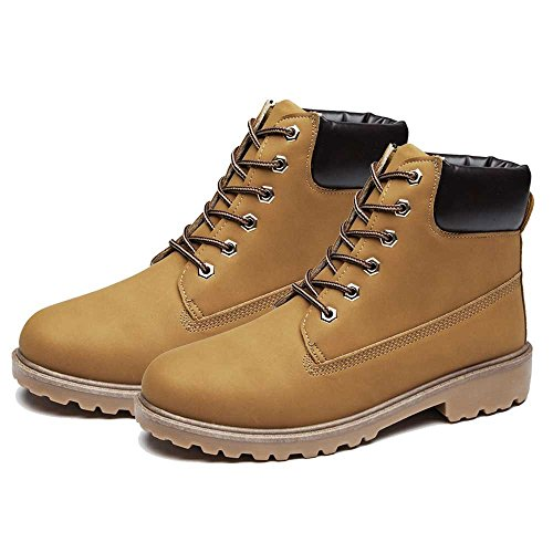 SITAILE Men Women Comfortable Ankle Boots Lace up Waterproof Combat Work Safety Shoes by SITAILE (Image #1)