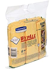 WYPALL Microfibre Cloths, Yellow, 6 Cloths/Pack, Case of 4 Packs