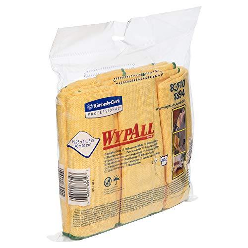 Wypall Microfiber Cloths (83610), Reusable, 15.75