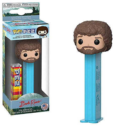 Funko POP! PEZ Candy: Bob Ross PEZ Candy and Dispenser Toy Action Figures ()