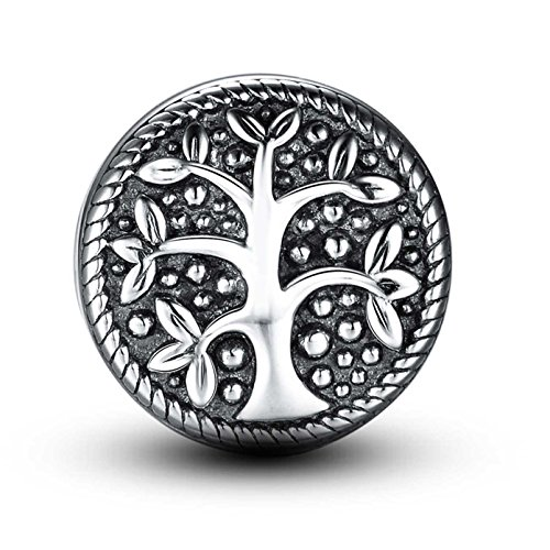 Tree of Life 925 Sterling Silver Love Charm