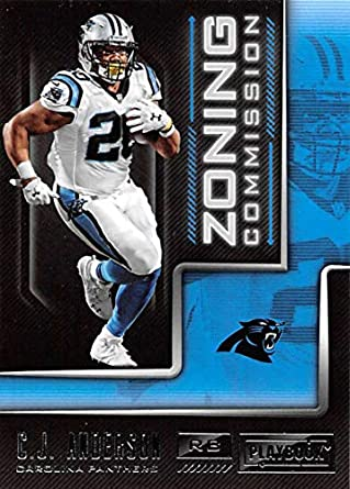 2018 Panini Playbook Zoning Commission  20 C.J. Anderson Carolina Panthers  NFL Football Trading Card b4a6ec089