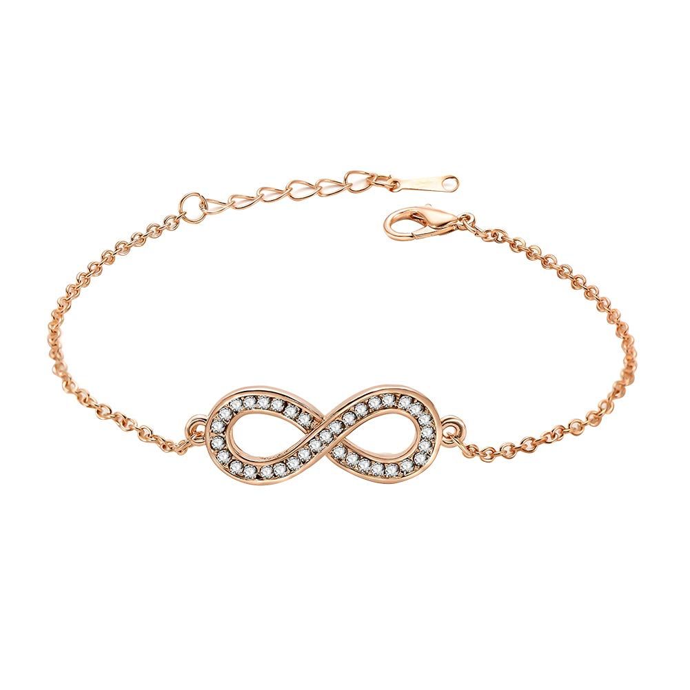 Fashion 8 Shape Rhinestone Women Bracelet Bangle Jewelry Party Wrist Decor Perfect Gift for Birthdays