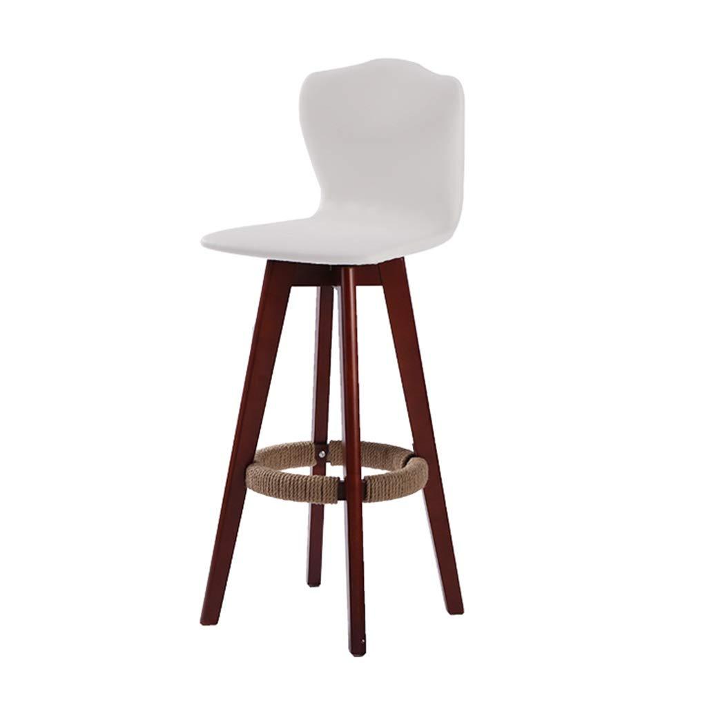 White-A 934848cm Bar Stool Bar Stools Wooden Bar Stool Wooden Bar Stool High-redating Bar Chair High Back Release Waist Pressure Load Capacity 160kg (color   Black-B, Size   93  48  48cm)